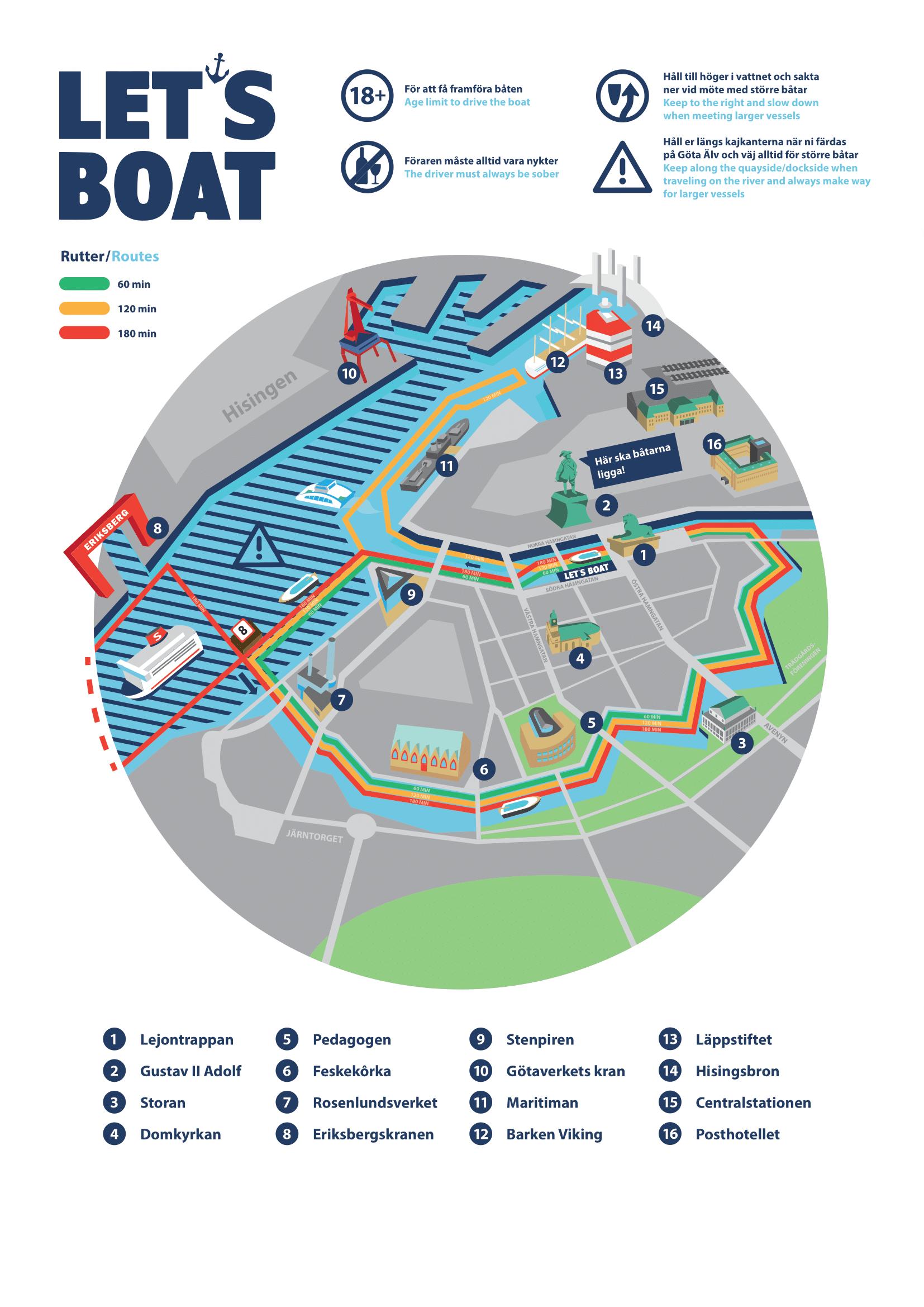 Karta över Göteborg
